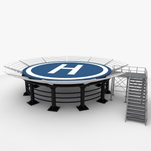 Helipad representing a Landing Page